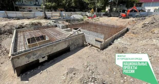 Как ведутся работы по благоустройству площади Куйбышева в Симферополе