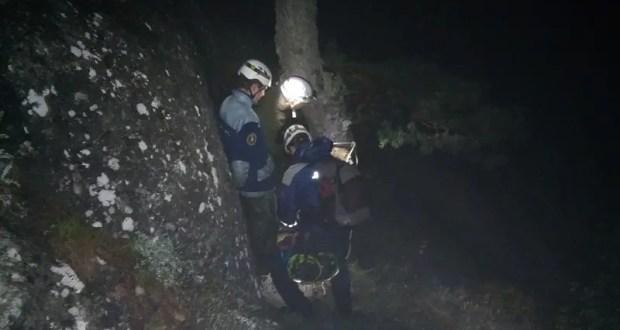 Спасательная операция в «Долине приведений на горе Демерджи