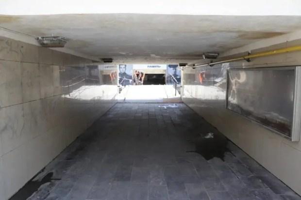 Последние отголоски потопа в Ялте – расчищен подземный переход от площади Советской