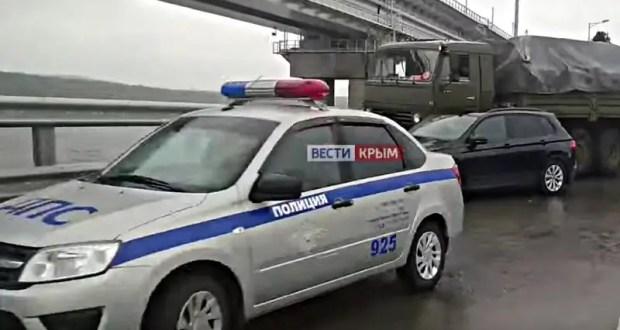 На Крымском мосту из-за ДТП ограничено движение