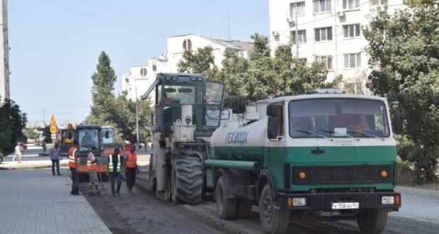 Дороги Севастополя: капитальный ремонт улицы Колобова находится на завершающей стадии