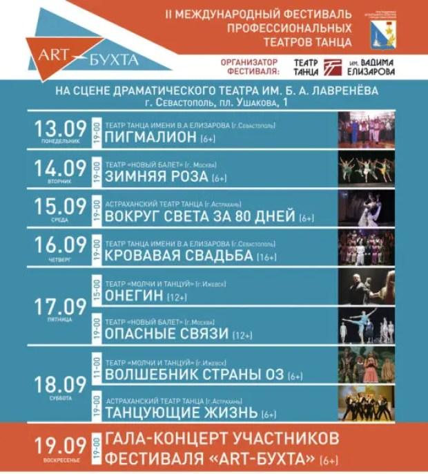 В Севастополе анонсируют II Международный фестиваль профессиональных театров танца «ART-БУХТА»