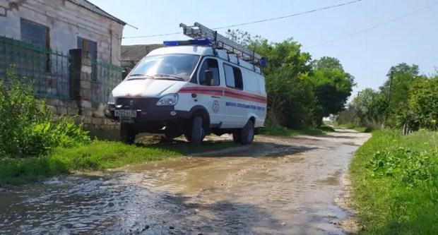 В Ленинском районе Крыма ликвидируют последствия подтопления