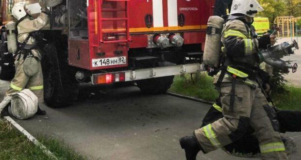 В Симферополе горел алкомаркет