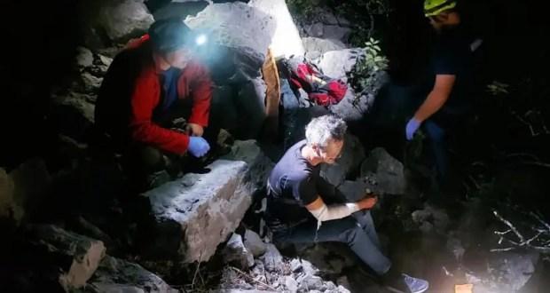 В горах на ЮБК поздно вечером спасали туриста