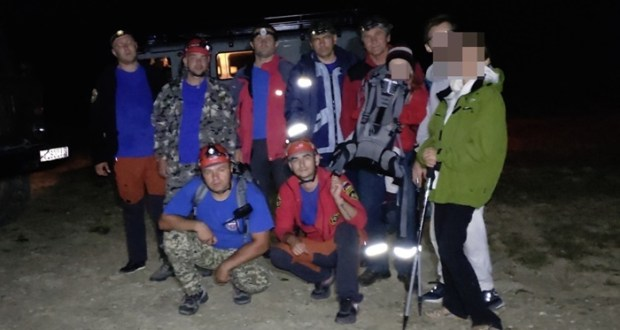 Вечерняя спасательная операция на горе Бойко: искали взрослых и ребёнка