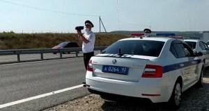 Автоинспекторы Севастополя проверили соблюдение водителями скоростного режима на трассе «Таврида»