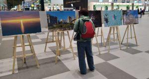 """В аэропорту """"Симферополь"""" в День туризма открылась фотовыставка достопримечательностей"""
