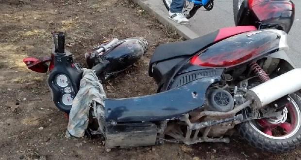 ДТП в Коктебеле: водитель мопеда не справился с управлением