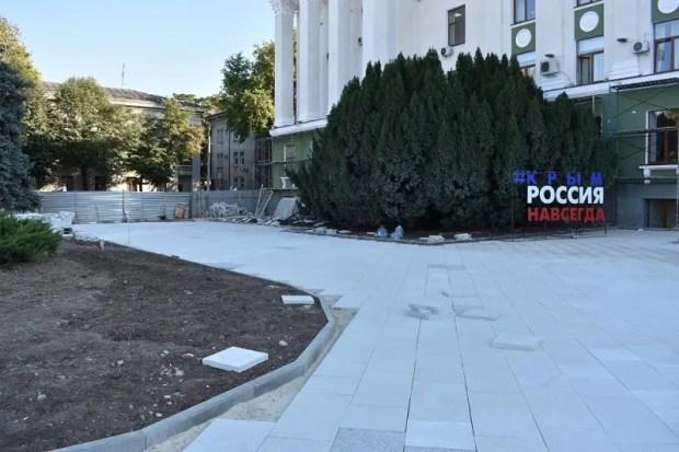 Назван новый «крайний срок» завершения ремонта площади Ленина в Симферополе – 20 декабря