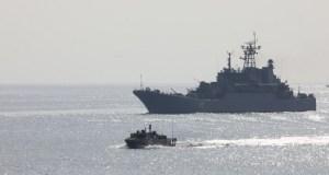 Более 40 кораблей и катеров Черноморского флота приняли участие в учении на полигоне Опук в Крыму