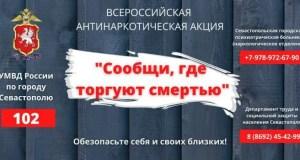 """""""Сообщи, где торгуют смертью!"""" В Севастополе стартовал второй этап антинаркотической акции"""