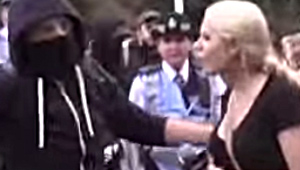 """Female Reporter Attacked by Masked """"Anti-Fascist"""" Thug, Then Blamed by Police for Being """"Too Provocative"""""""