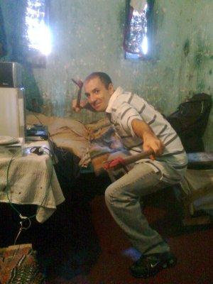 Una de las fotos subidas por los reclusos a Facebook.