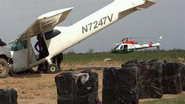 La avioneta secuestrada en Santiago.
