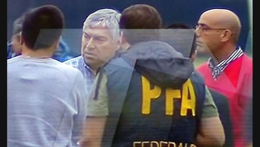 La detención de Báez en San Fernando.