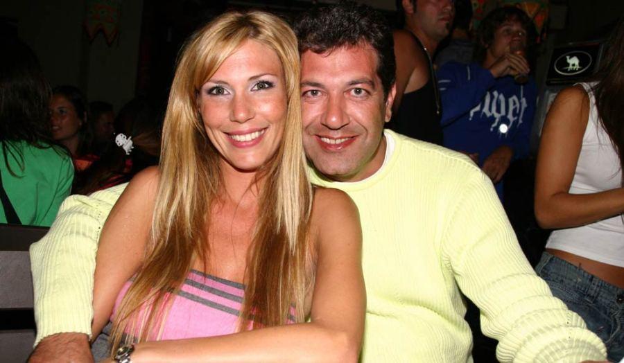 Minnicelli con su ex mujer, Celina Rucci.