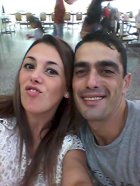 La pareja, antes de la separación.