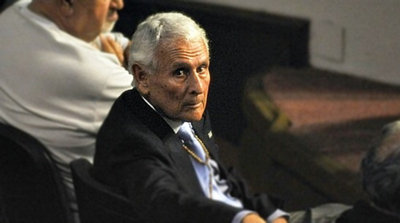 Etchecolatz, durante uno de los juicios.