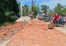 ঝিনাইদহ-কালীগঞ্জ মহাসড়কে পিচের পরিবর্তে ইটের সলিং