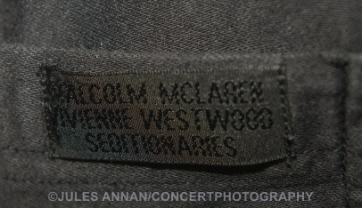"Original Seditionaries product label on Malcom McLaren and Vivienne Westwood black labelled Punk Rock ""Parachute"" shirt circa 1977"