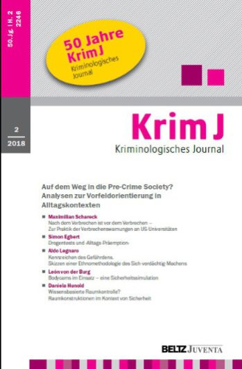 Titelbild Kriminologisches Journal 2/2018