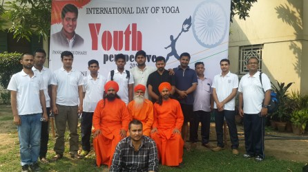 Several Yogic Monks of Ananda Marga organized and participated in the event