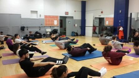 Queens College in New York have regular yoga classes