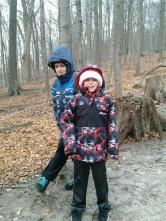 Liam and Aidan posing for me