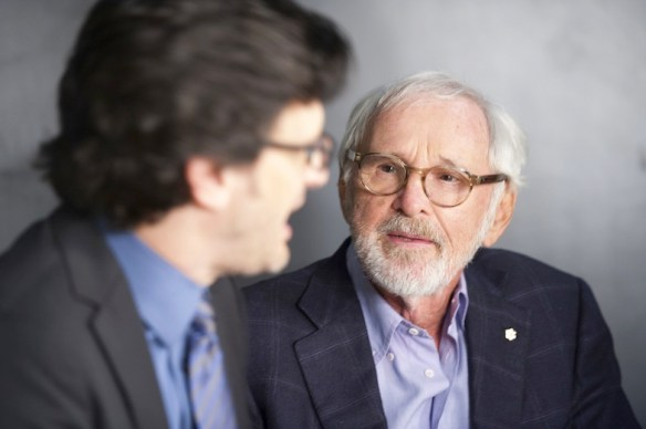 Ben Mankiewicz with Norman Jewison. Photo by Edward M. Pio Roda courtesy of TCM