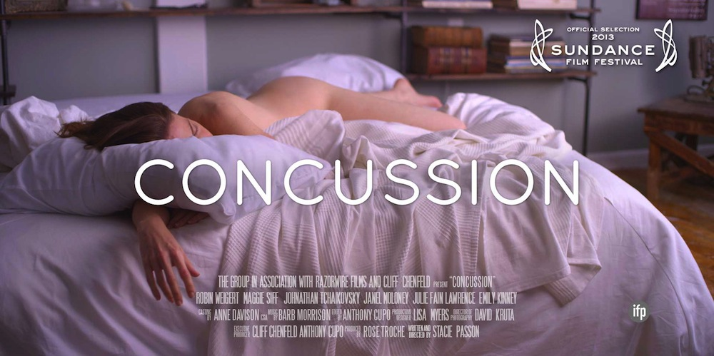 Robin Weigert in CONCUSSION: Erotic Melodrama Heats Up