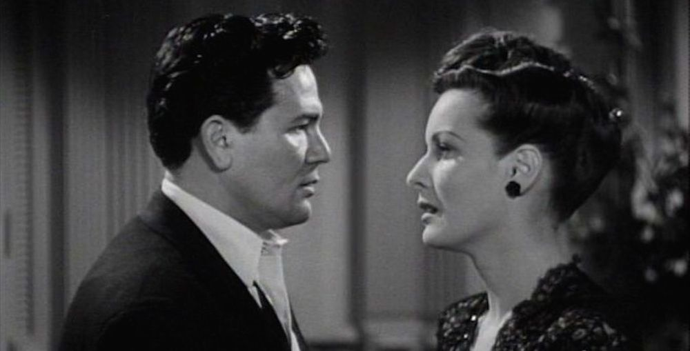 Garfield and O'Hara in The Fallen Sparrow