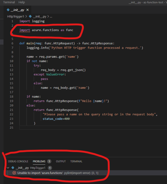 VS Code Python Functions Missing Module