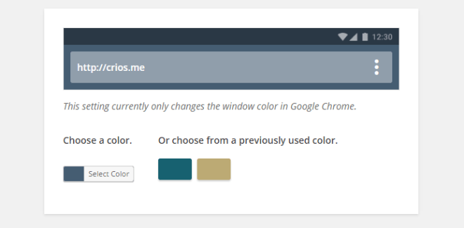 WP Color Browser Settings
