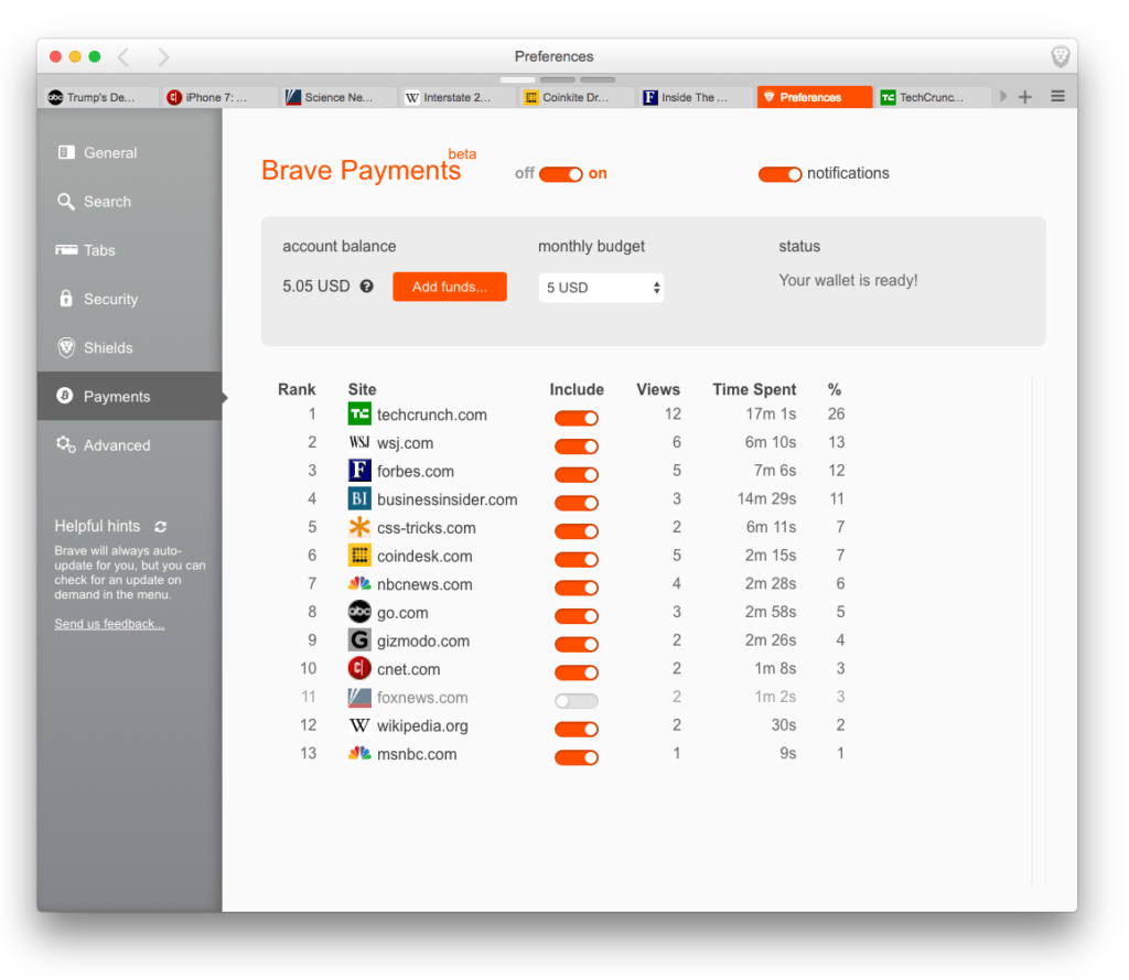 Brave-Micropayments