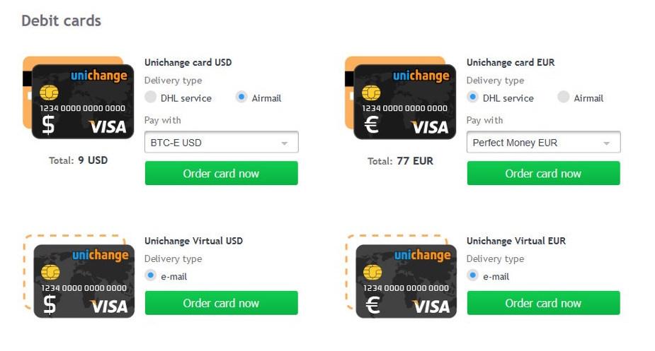Unichange Tarjetas Bitcoin