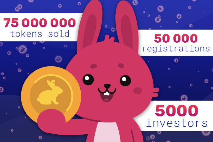 BunnyToken vende 75 millones de Tokens