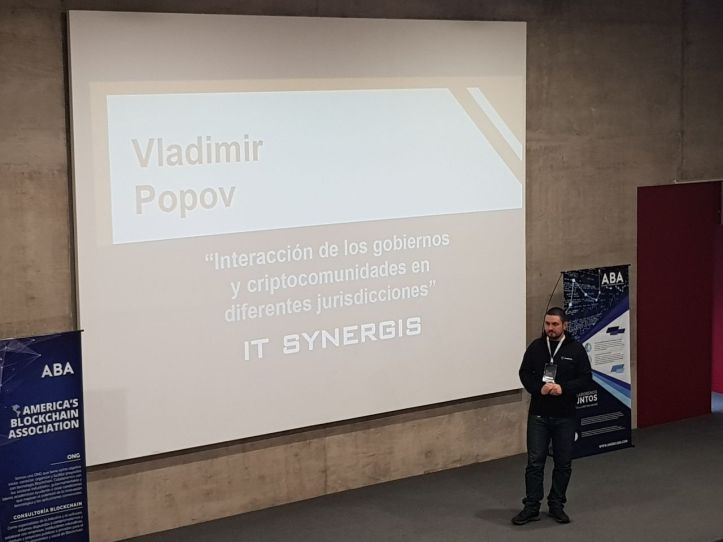 Vladimir Popov Congreso Blcokchain 2018