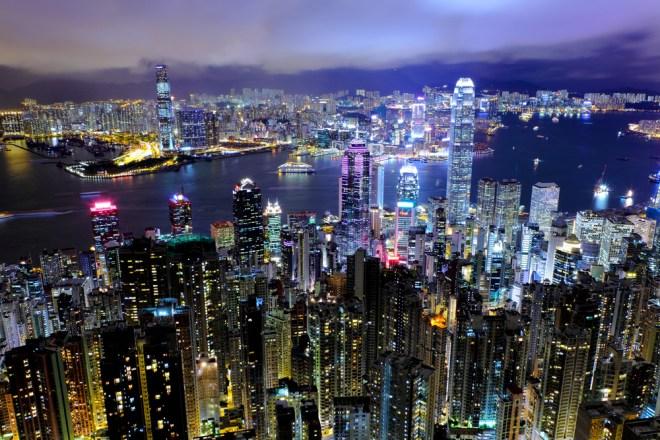 Hong Kong vista de noche