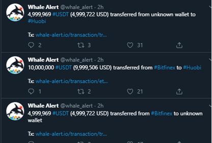 Movimientos de las ballenas crypto en USDT