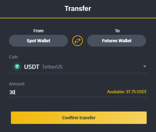 Volatilidad de Bitcoin - Recarga de USD 30 en cuenta de Binance Futures.