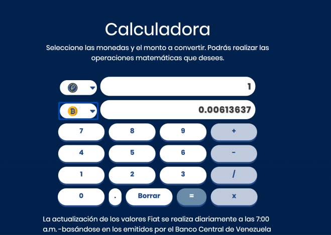 Calculator to determine how much a petro is worth after different quotes.