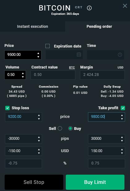 Interfaz para programar una orden automática de compra de Bitcoin