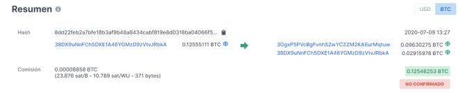 Como lo dice Andreas Antonopoulos, Bitcoin no es una moneda privada, pudiendo consultarse sus operaciones en cualquier momento. Fuente: Blockchain.com
