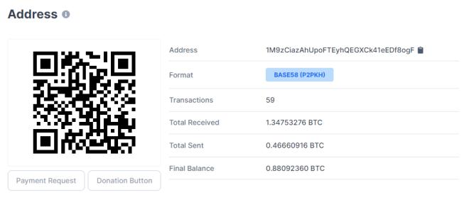 Hackers Bitcoin lanzan ataque contra Call of Duty obteniendo 1,34 BTC hasta ahora. Fuente: Blockchain.com