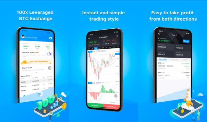 Aplicación de cripto trading Bexplus