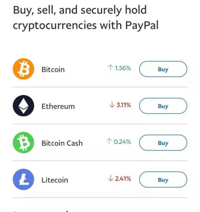 Desde hace aproximadamente un mes, se pueden comprar, vender y almacenar criptomonedas en la plataforma de PayPal.