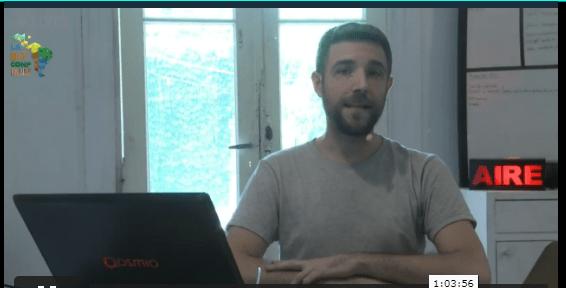 Julian Dragonosh realizando su panel donde habló acerca de como instalar un nodo de Bitcoin. Fuente: laBITconf.