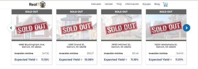 En nuestro review de la empresa de bienes raíces RealT encontramos distintas opciones de inversión por distintas cantidades