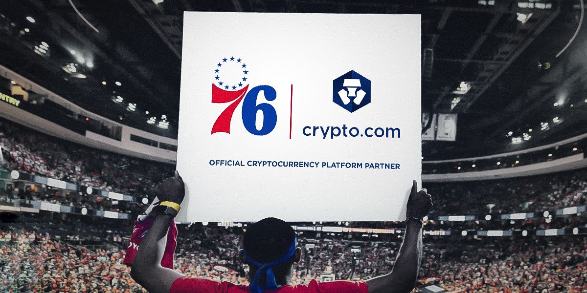 Crypto.com será el socio del parche oficial de las camisetas de Philadelphia 76ers en la NBA